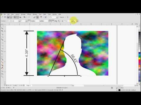 Corel Draw X5 Dimension Line Tutorial