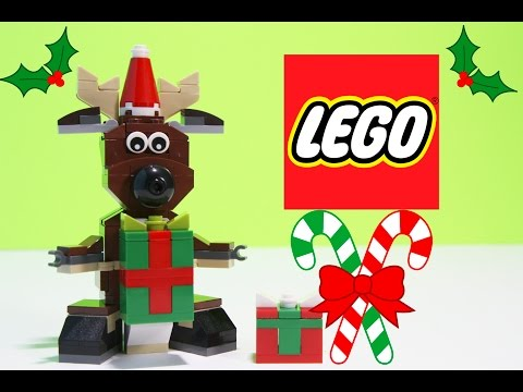 Lego Reindeer Unboxing Toy Review a Seasonal Lego