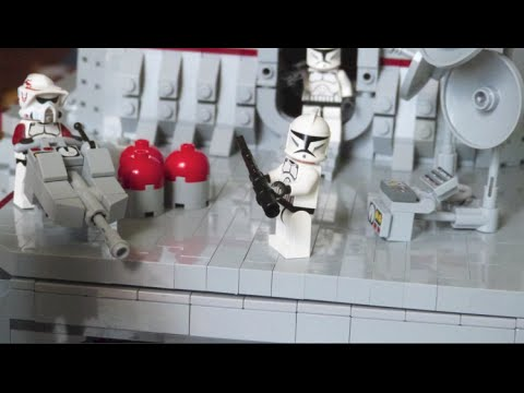 LEGO Star Wars The Clone Wars Deutsch Staffel 5 Attacke von Grievous Clone Base on Kashyyyk MOC