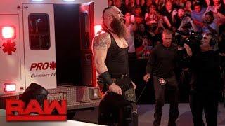 Braun Strowman puts Roman Reigns in an ambulance: Raw, June 26, 2017