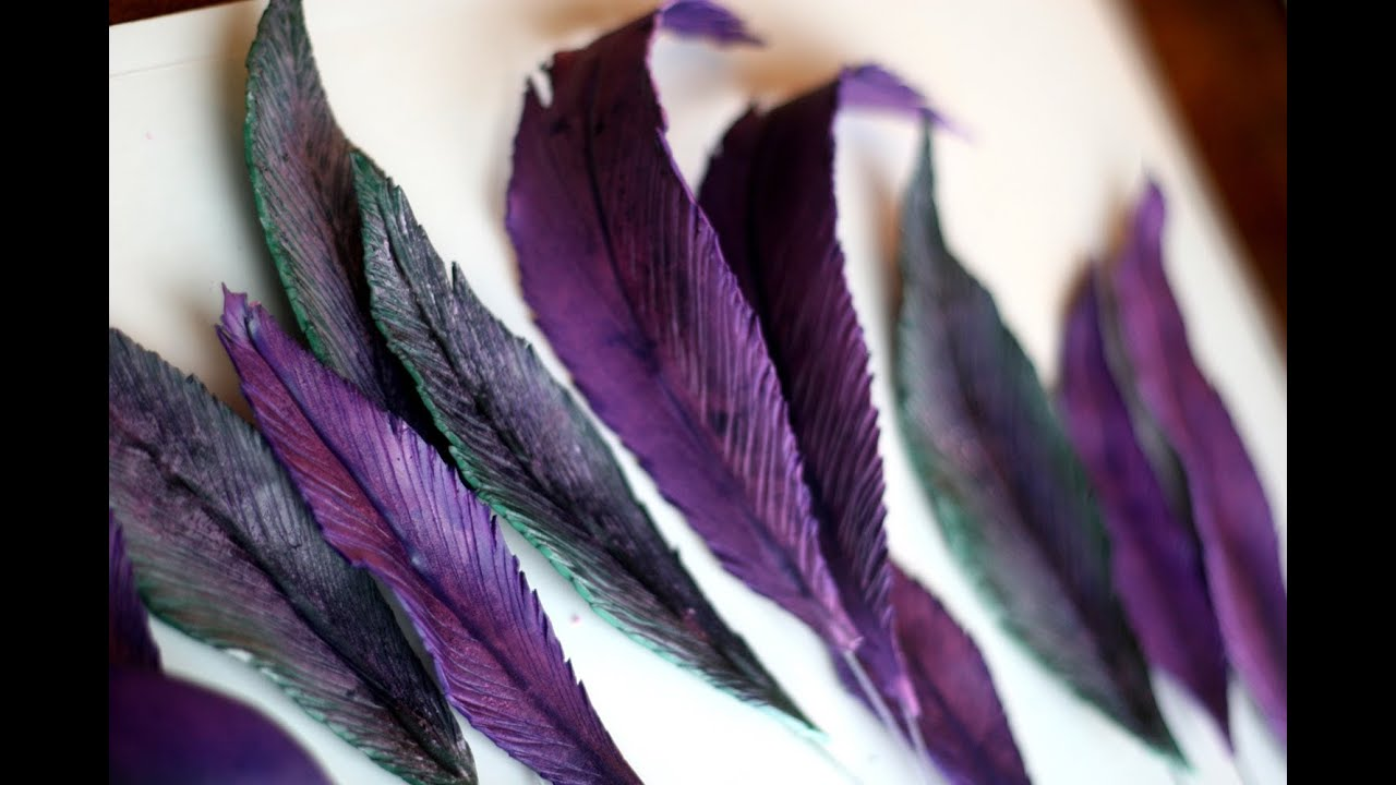 fondant feathers