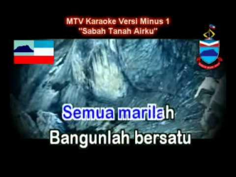 Lagu Sabah Tanah Airku (mtv Karaoke - Minus1) video