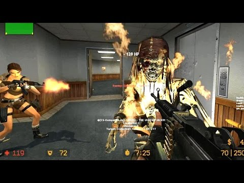 Counter Strike Source - Jack Sparrow Zombie Boss fight Online Gameplay on Office Unlimited map