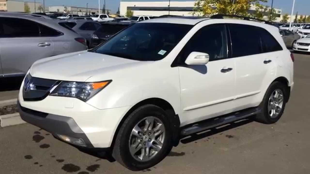 Pre Owned White On Black 2007 Acura Mdx Awd 4dr Auto
