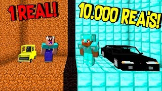 CARRO BARATO VS. CARRO CARO (MINECRAFT 1 REAL VS. 1000 REAIS)