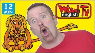 Shopping, Racing and Cooking with Steve and Maggie + MORE Stories for Kids | Learn Wow English TV