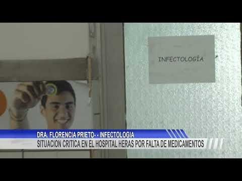 Situación critica en el Hospital Heras por la falta de medicamentos en el sector de infectología