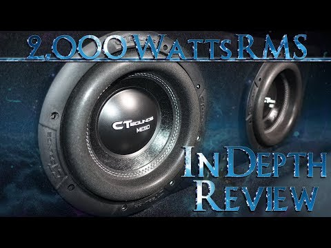 8 Inch CT Sounds Meso 2.0 In Depth Review 2.000 Watts RMS