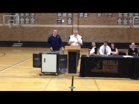 Ryan Greenen Inspiration Award at Shahala Middle School