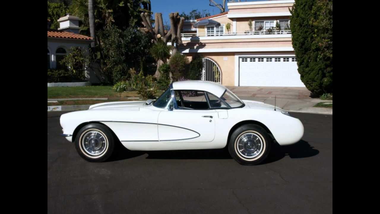 1957 White On Black Chevrolet Corvette Convertible YouTube