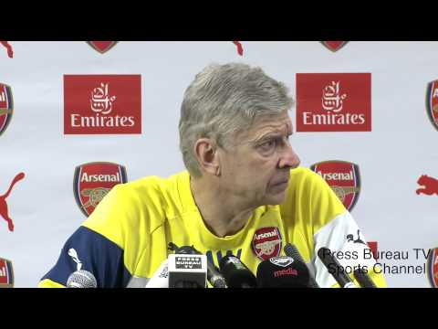 Arsene Wenger pre Arsenal vs Leicester