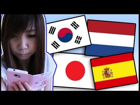 Language Apps #2 (korean, Dutch, Japanese & Spanish) video