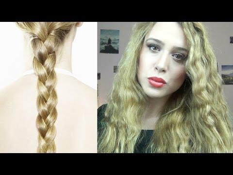 Come ottenere capelli mossi e DEFINITI senza FERRO-Tutorial metodo delle trecce   Erikioba
