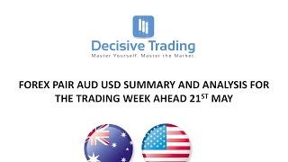 Forex Day Trading Market Analysis AUDUSD For Trading Week Ahead Sun 21st May