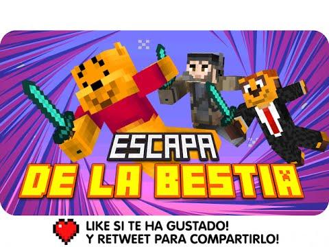 ESCAPA DE LA BESTIA D: Minecraft en Olimpocraft con Exo y Gona