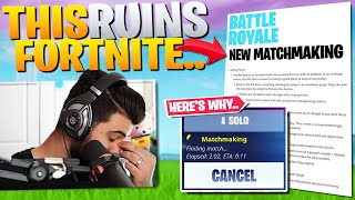 Why The NEW Matchmaking Update Could RUIN Fortnite... (Fortnite Battle Royale)