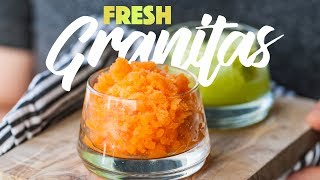 Fruity Ice Granita Recipes - Frozen Italian Dessert. #spon