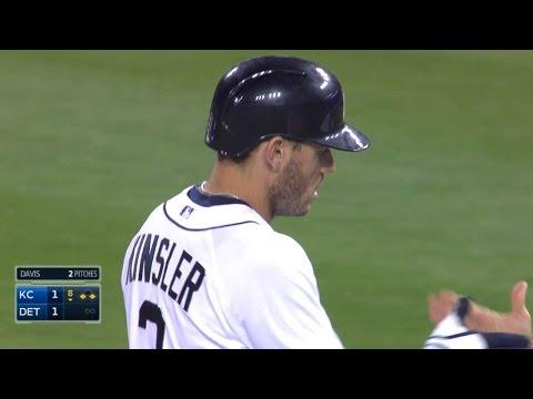 KC@DET: Kinsler notches four hits vs. the Royals