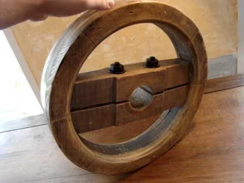 Poulie En Bois Ancienne Vintage Loft Industrielle Industriel Usine Youtube