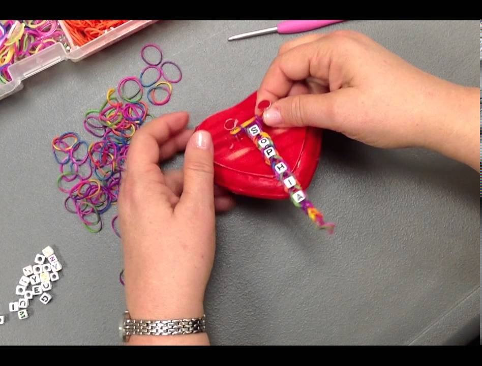 How To Make The Letter J Out Of Loom Bands