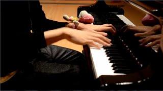 グランドピアノで東方の曲をメドレーにして弾いてみた
