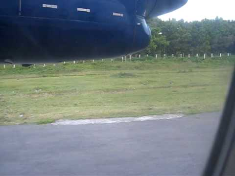 Landing in Basco, Batanes (BSO) Airport in Philippines