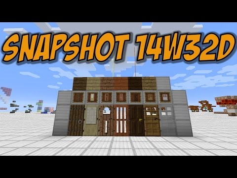 Minecraft 1.8: Snapshot 14w32d Doors for ALL wood types