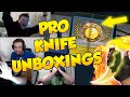 CS:GO - FUNNIEST PRO KNIFE UNBOXING REACTIONS! ft. shox, FalleN, pasha & More