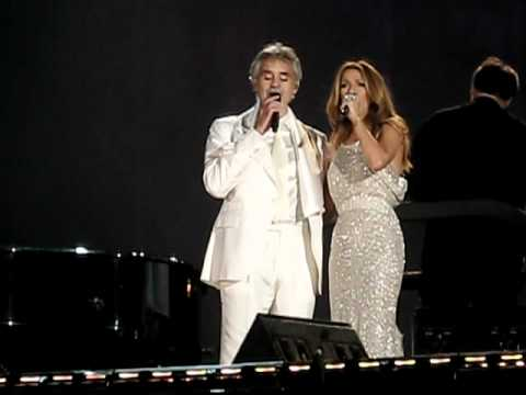 Celine Dion and Andrea Bocelli live in Central Park (The Prayer)