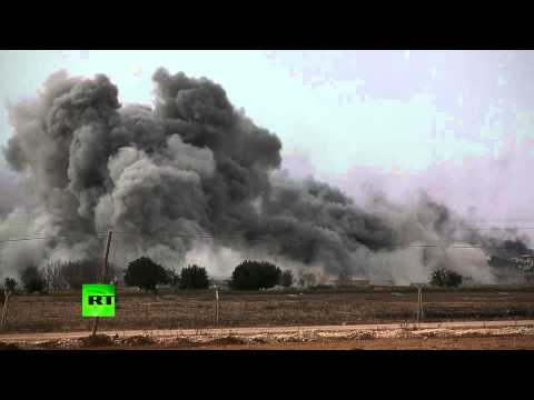 Huge Kobani blast: Massive smoke cloud over town after anti-ISIS airstrike
