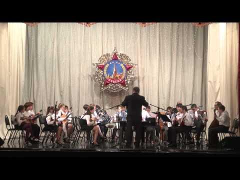 Оркестр народных инструментов.  Марш Гротеск.  Руководитель Красноперов В П