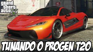 GTA V - TUNANDO O PROGEN T20 CARRO NOVO DLC DINHEIRO SUJO PARTE 2