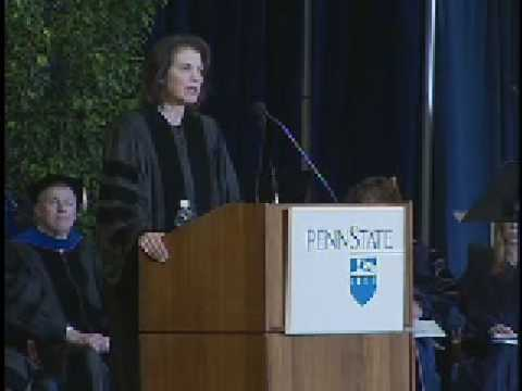Sherry Lansing addresses spring 2008 graduating class