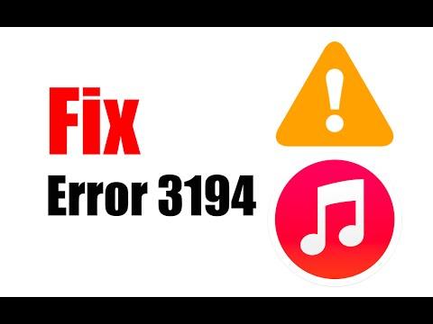 Fix Error 3194 On iTunes On Mac & Windows