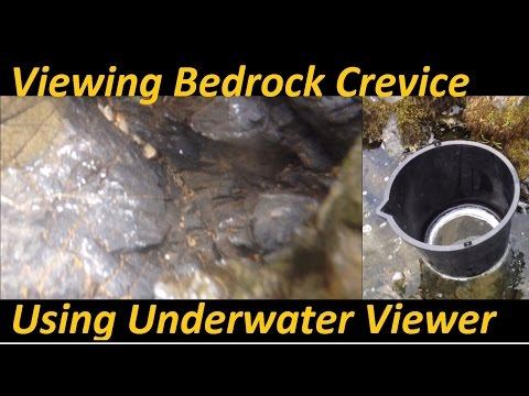 Viewing Bedrock With DIY Underwater Viewer Gold Prospecting
