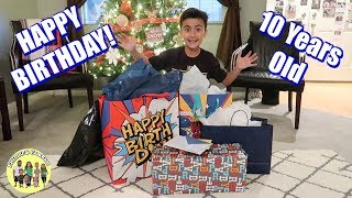 ELIJAH'S 10th BIRTHDAY PARTY OPENING PRESENTS | OPENING BIRTHDAY PRESENTS | PHILLIPS FamBam Vlogs
