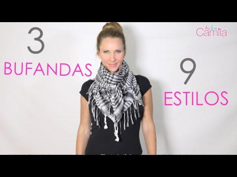 Tres bufandas nueve estilos - #asilovecamila