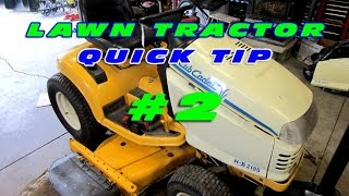 Lawn Tractor Quick Tip #3 - Ignition Switch Terminals