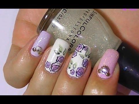 Дизайн ногтей. Рисунки на ногтях - розы.