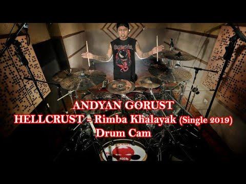 "Download Andyan Gorust Drum Cam Hellcrust ""Rimba Khalayak"" single 2019 Mp4 baru"