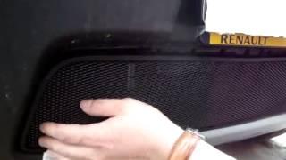 Видео: Установка защиты радиатора Renault Daster черная