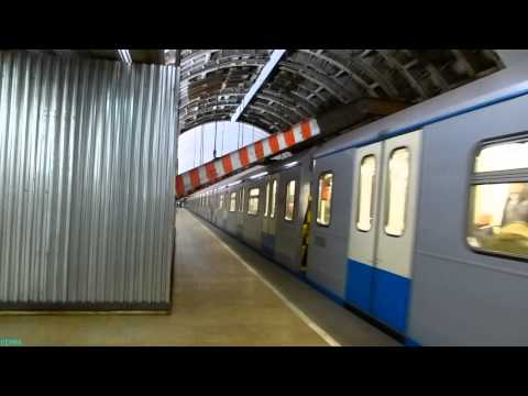 New Metro Train Oka in Moscow 18.01.2014