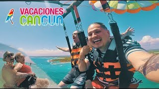 CANCUN MEXICO VLOG DAY 2 - PARASAILING + RESCUING TIPSY GRANDMA!
