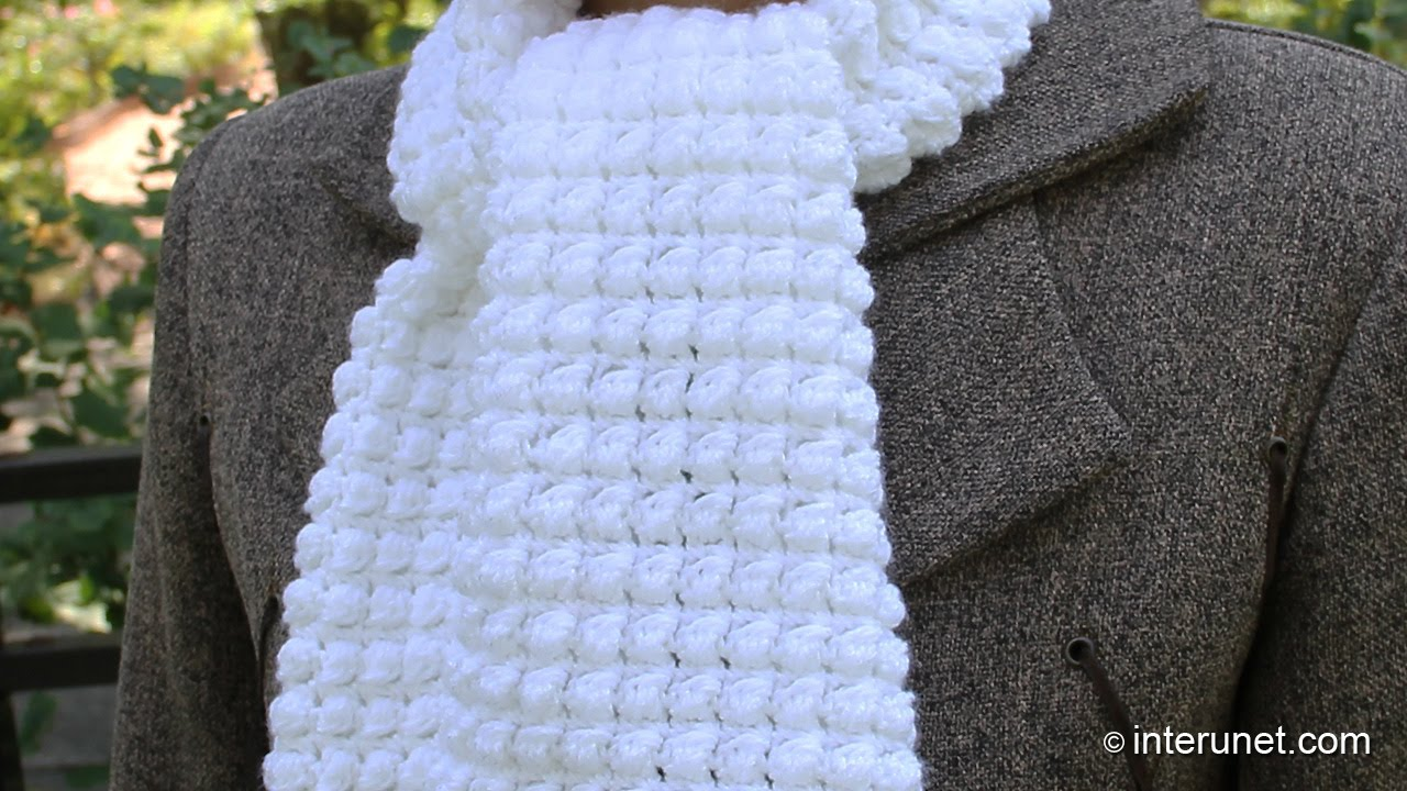 Crochet Scarf Patterns Youtube : How to crochet a scarf - pattern for beginners - YouTube