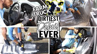 Complete Disaster Full Interior Car Detailing Ford F350! Dirtiest Car Detailing Series Ep. 12