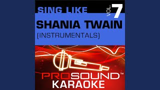 Party For Two Karaoke Instrumental Track In The Style Of Shania Twain