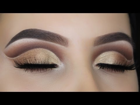 Golden Brown Cut Crease Tutorial