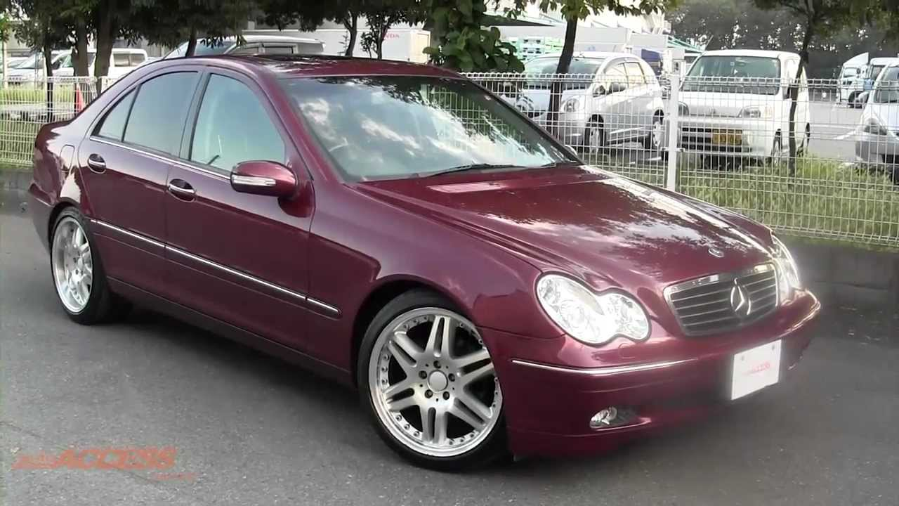 2001 mercedes benz c200 kompressor for sale direct from japan youtube. Black Bedroom Furniture Sets. Home Design Ideas