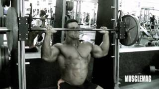 Blair Mone Trains for MuscleMag