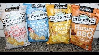 Deep River Snacks Potato Chips: Pink Himalayan Salted, Salt & Vinegar, Garlic & Onion, Honey BBQ